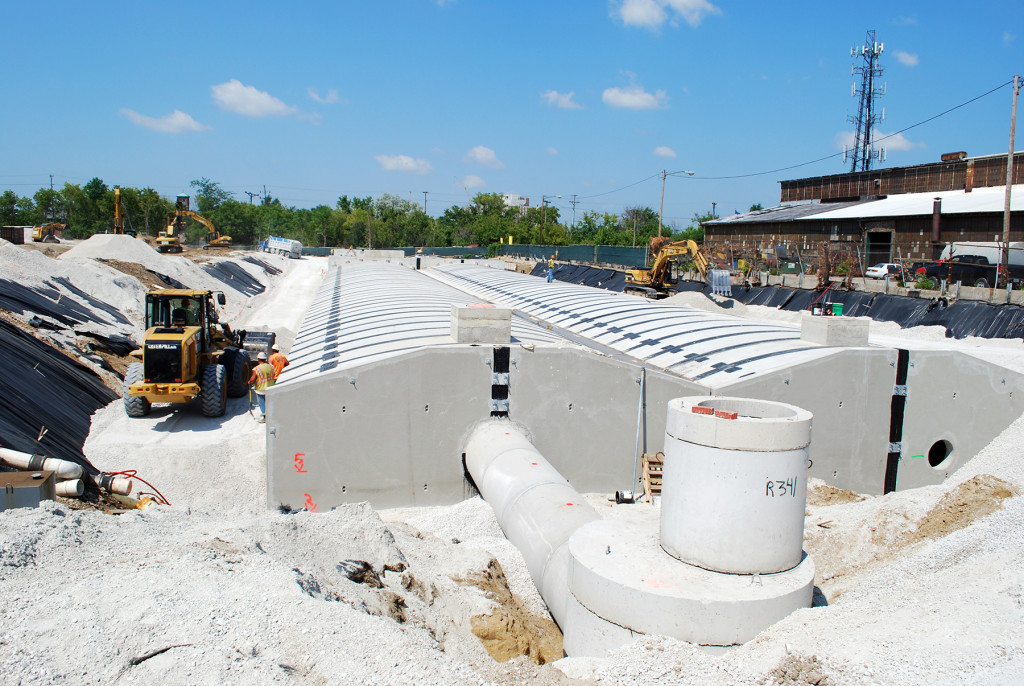 Precast concrete stormwater detention