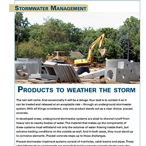 Precast concrete stormwater management
