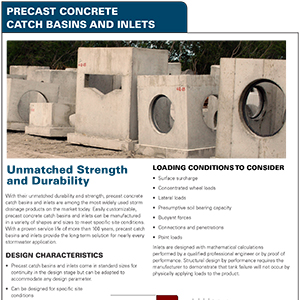 Precast Concrete Catch Basin and Inlet