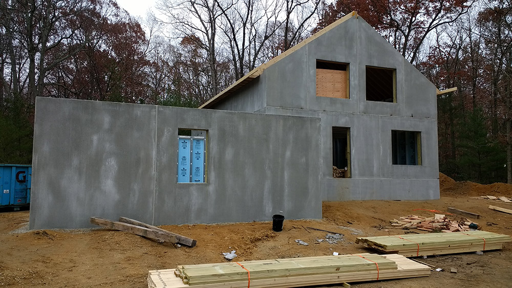 Precast concrete home construction
